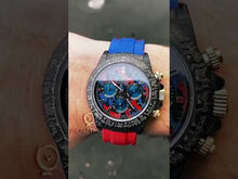 "Load and play video in Gallery viewer, Rolex DiW NTPT Carbon Daytona ""MILITARY RED"" (Retail:US$60,990)"