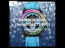 "Load and play video in Gallery viewer, Rolex DiW NTPT Carbon Daytona ""RAINBOW BLUE"" (Retail:US$81,000)"