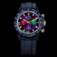 "Load image into Gallery viewer, Rolex DiW NTPT Carbon Daytona ""MOTLEY PURPLE UNIQUE 1"" (Retail:US$56,800)"