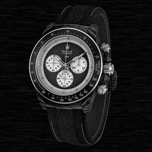 "Rolex DiW NTPT Carbon Daytona ""PAUL NEWMAN BLACK SC"" (Retail:US$49,500)"