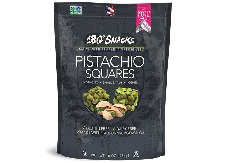 Pistachio Squares with Pink Himalayan Sea Salt (16oz.)