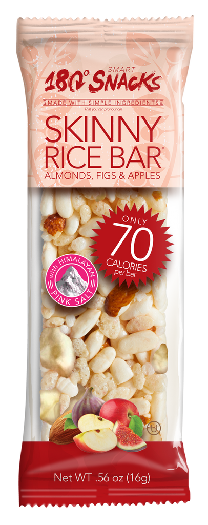 Skinny Rice Bar with Almonds, Fig, & Apples with Himalayan Salt (14 count)
