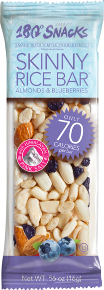 Skinny Rice Bar with Blueberries, Almonds, and Himalayan Salt (14 count)