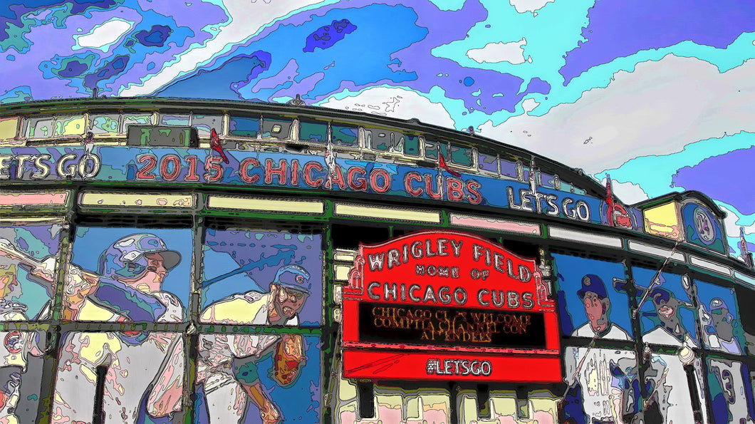 CHICAGO'S WRIGLEY FIELD 01 - CITYSCAPES