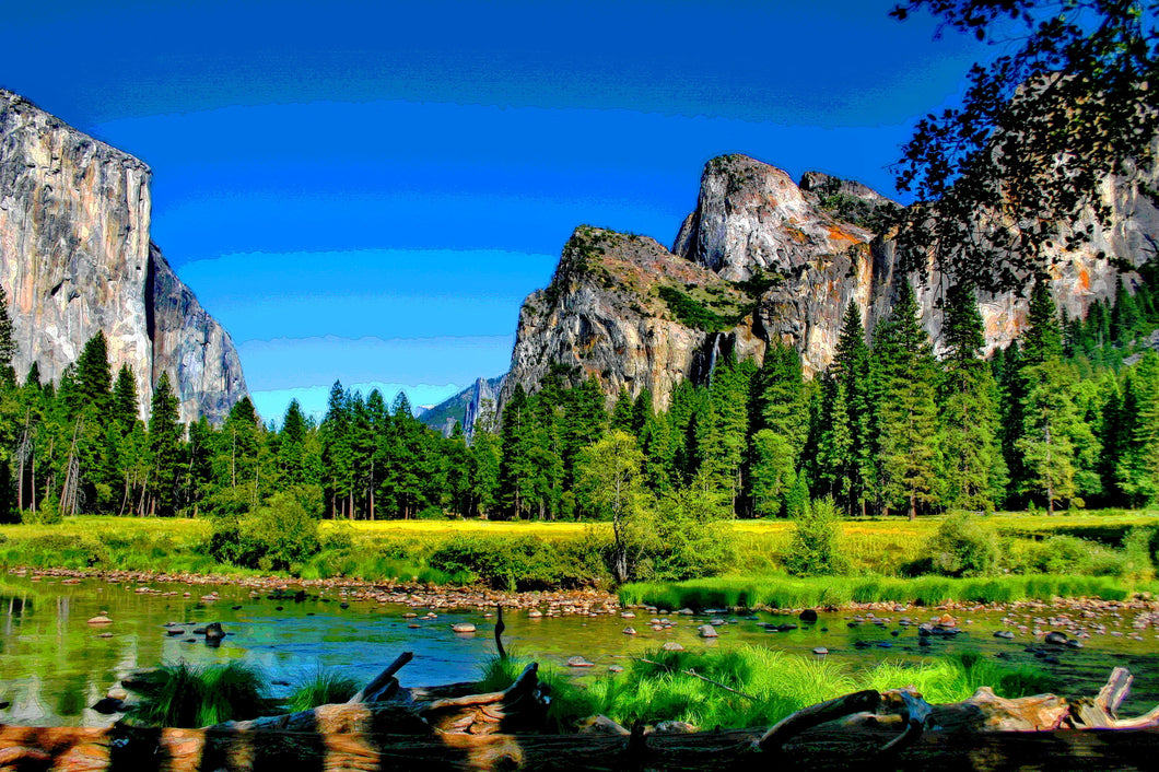 MERCED RIVER IN YOSEMITE VALLEY 01 - LANDSCAPES