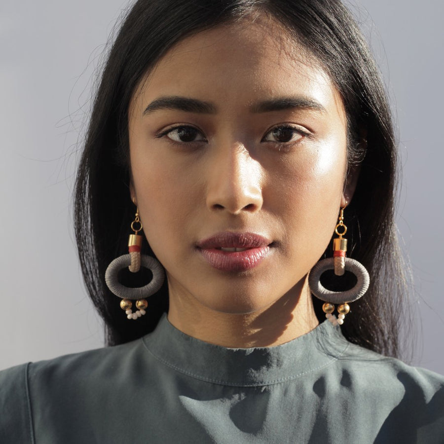Pichulik | Gamma Earrings Grey Orange