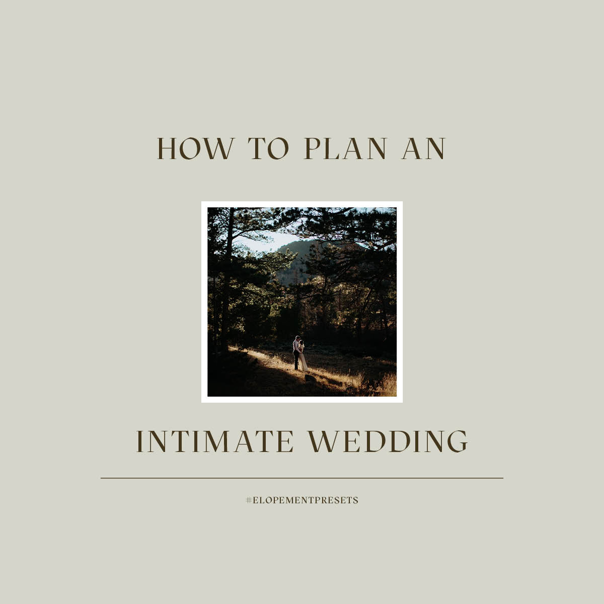 Helping Clients plan an Intimate Wedding