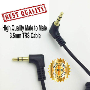 3.5mm Audio Cable - Dual Male 3.5mm TRS Cable for Fujifilm X-T3, Diety 3 PRO, Rode Video Micro, Canon DSLR, lumix G7, Audio Mixers, Microphones, Cameras, Recorders, Car Speakers
