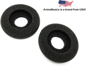 CS50 Ear Pads by AvimaBasics | Spare Ear Cushions for Plantronics CS55, CS60 Cordless AWH55 | Jabra/GN 2124, 2125, 9300, 9330, 9350 | Mitel Headset - 5330, 5340, 5360 | 67063-01, 14101-08