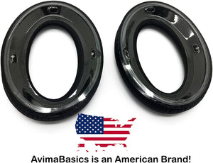 PXC350 Ear Pads by AvimaBasics | Premium Replacement Earpads Cushions Cover Repair Parts for SENNHEISER PXC350, PC350, PC350 SE, PXE350, HD380, HD380-Pro, HME95, HMEC250 Headphones Headset