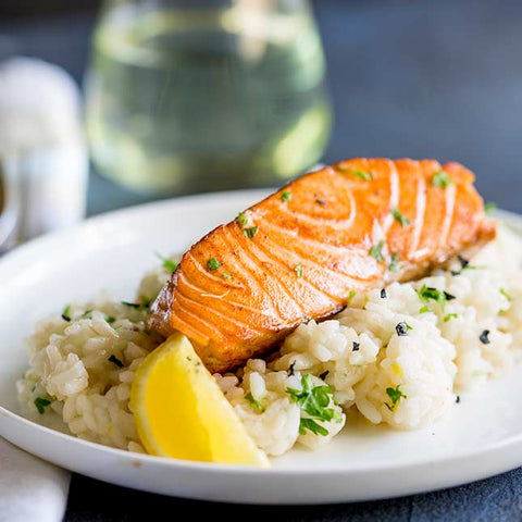 Ready To Eat: Honey Citrus Salmon w/Steamed Rice