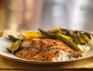 Ready To Eat: Lemon Pepper Tilapia w/ Roasted Zucchini (Low Carb)