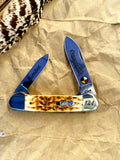 Limited Edition Case Amber Bone Lumbee Canoe Pocketknife