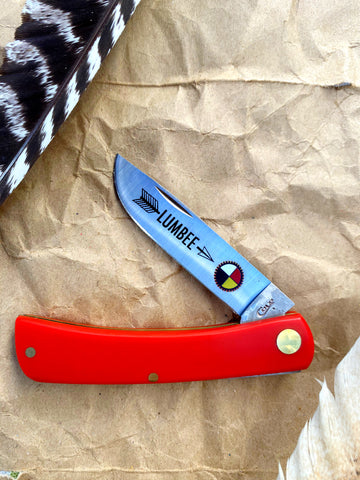 Red Case American Workman Sod Buster Jr Lumbee Pocketknife