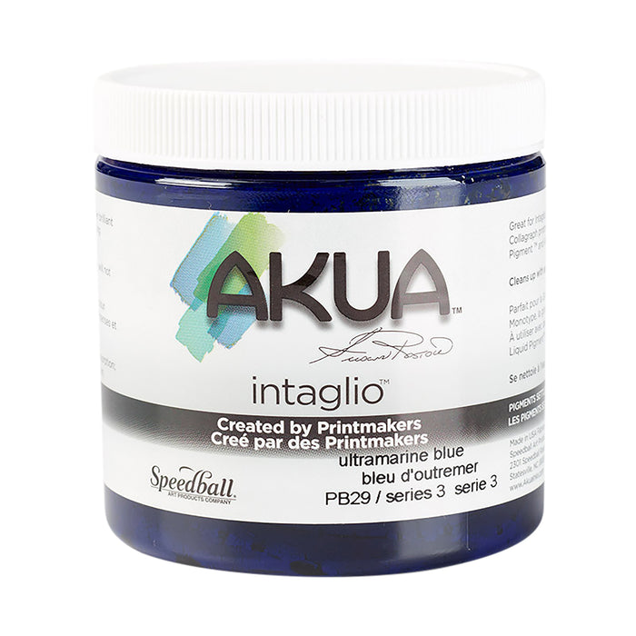 AKUA INTAGLIO INK BONE 8oz ULTRAMARINE BLUE