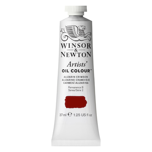 ARTISTS' OIL COLOR 37ml TUBE ALIZARIN CRIMSON