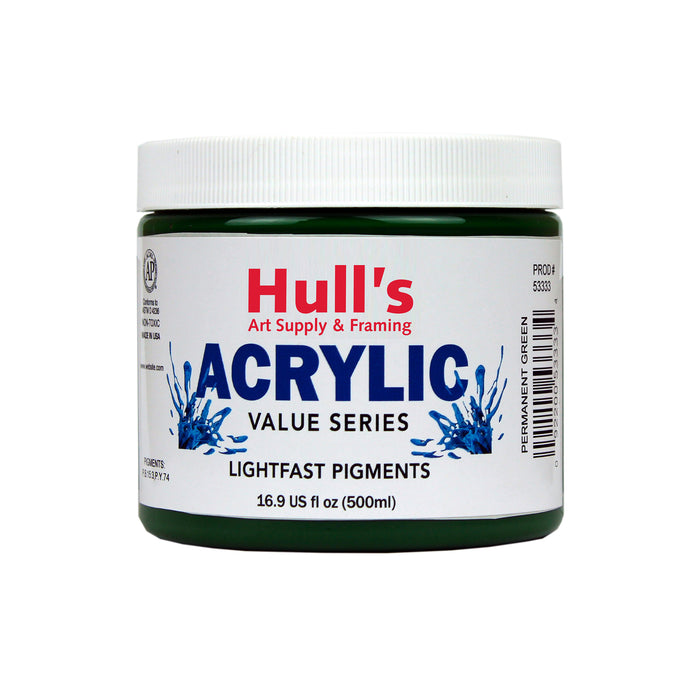 HULLS ACRYLIC 16OZ JAR PERMANENT GREEN
