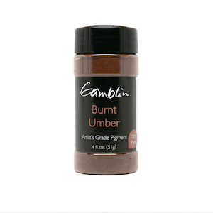 GAMBLIN DRY PIGMENT 4oz BURNT UMBER