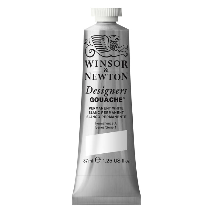 DESIGNER GOUACHE 37ml TUBE PERMANENT WHITE