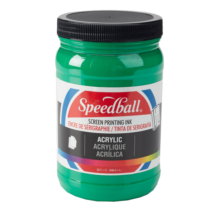 ACRYLIC SCREEN PRINTING INK 32oz EMERALD GREEN