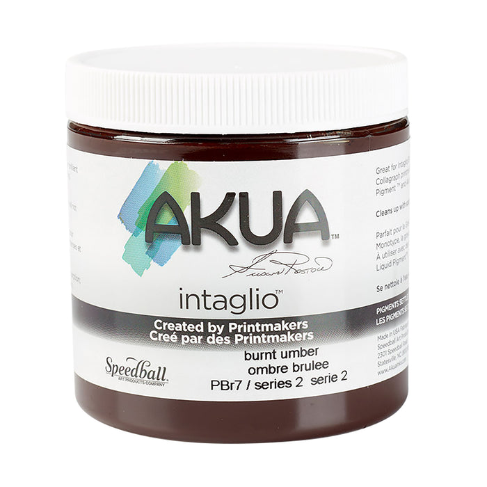 AKUA INTAGLIO INK BONE 8oz BURNT UMBER