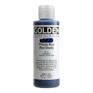 FLUID ACRYLIC 4oz PHTHALO BLUE RED SHADE