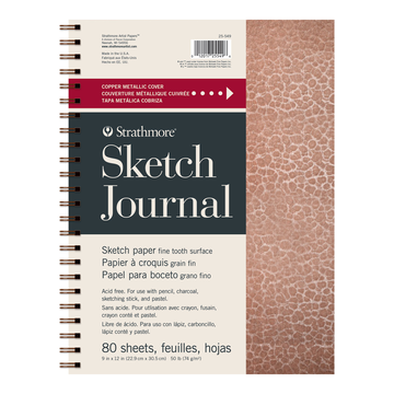 SKETCH JOURNAL METALLIC COPPER 9''x12''