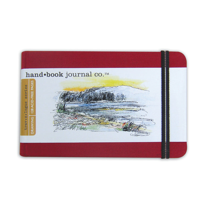 TRAVELOGUE JOURNAL LANDSCAPE 3.5X5.5 RED