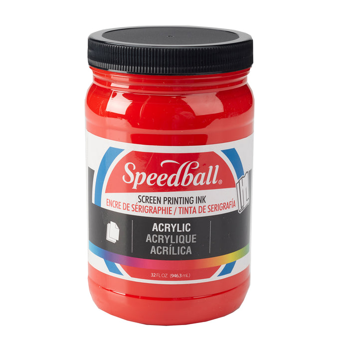 ACRYLIC SCREEN PRINTING INK 32oz MEDIUM RED