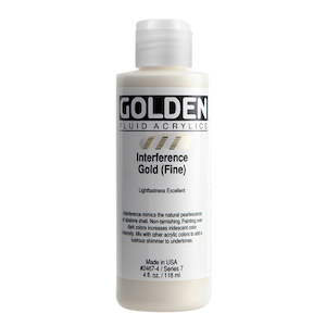 FLUID ACRYLIC 4oz INTERFERENCE GOLD FINE