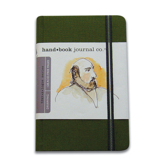 TRAVELOGUE JOURNAL PORTRAIT 5.5X3.5 GREEN