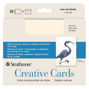 CREATIVE CARDS IVORY/ DECKLE 10-PACK
