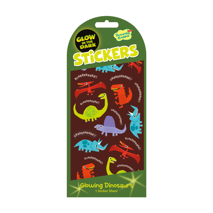 GLOW IN THE DARK STICKERS DINOSAURS