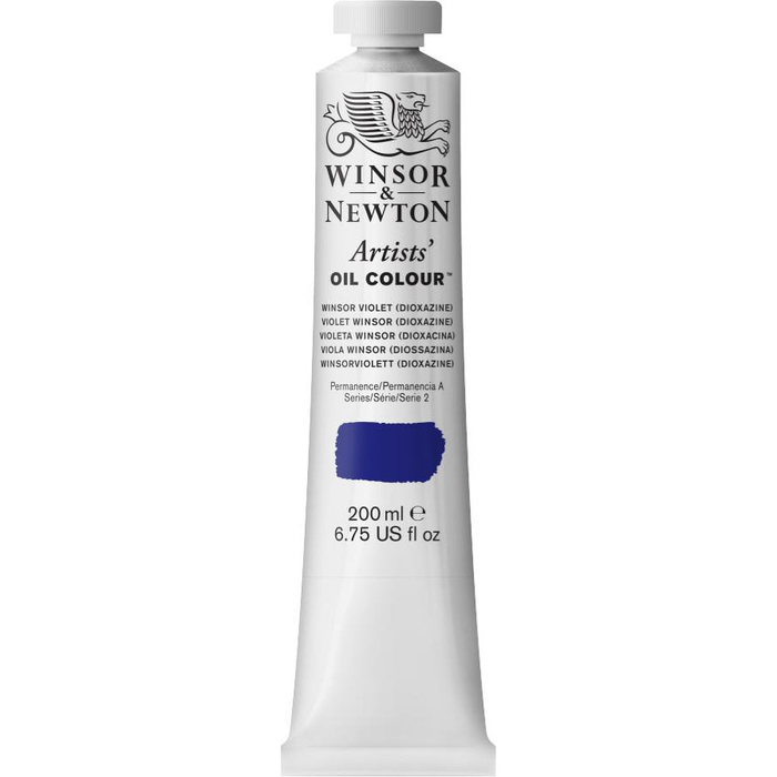 ARTISTS' OIL COLOR 200ml TUBE WINSOR VIOLET DIOXAZINE