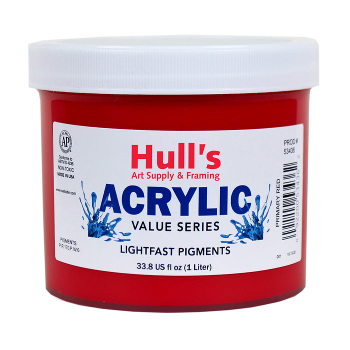 HULLS ACRYLIC 32OZ JAR PRIMARY RED