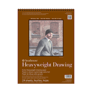 HEAVY WEIGHT DRAWING PAD WIRE BOUND 11''x14''