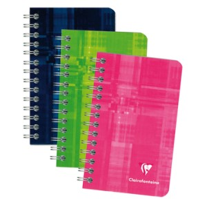 CLAIR FONTAINE WIRE NOTEBOOK RULED 3X4.75