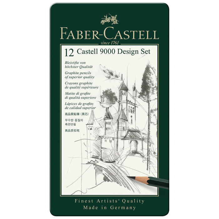 CASTELL 9000 DESIGN TIN SET/12