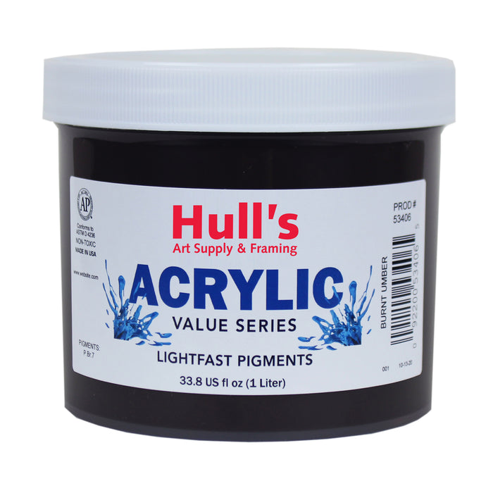 HULLS ACRYLIC 32OZ JAR BURNT UMBER