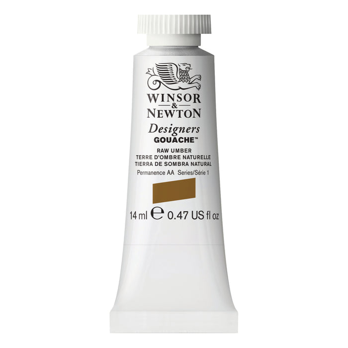 DESIGNER GOUACHE 14ml TUBE RAW UMBER