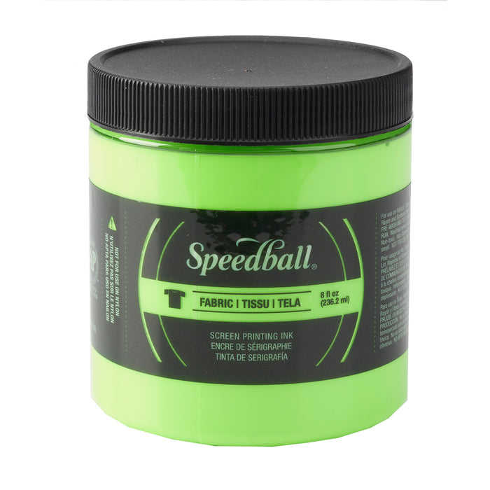 FABRIC SCREEN PRINTING INK 8oz FLUORESCENT GREEN