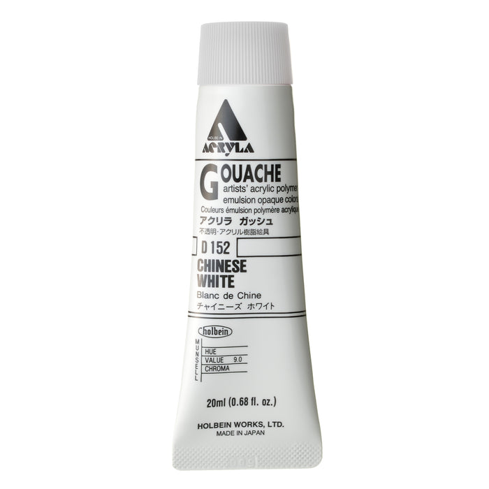 ACRYLA GOUACHE 20ML CHINESE WHITE