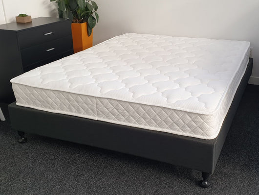 Alice pocket spring double mattress on bed base