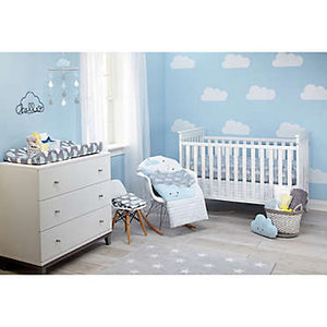 Little love by Nojo- Happy Little Clouds 5 Piece Crib Bedding Set