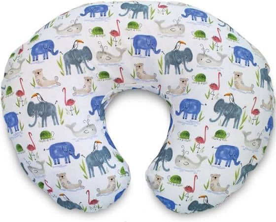 Boppy With Slipcover-Watercolor Animals