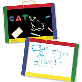 Melissa and Doug  years Magnetic Chalkboard and Dry-Erase Board