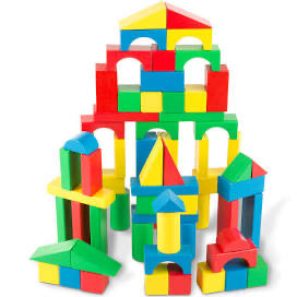 Melissa and Doug 100 Piece Wood Blocks Set