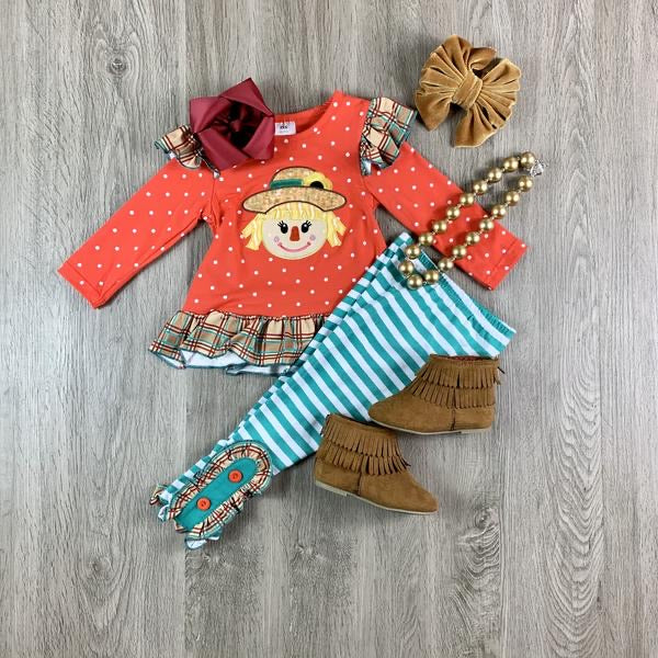 Girl Scarecrow Fall Outfit