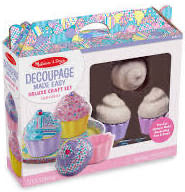 Melissa and Doug Decoupage Made Easy Deluxe Craft Set - Cupcakes