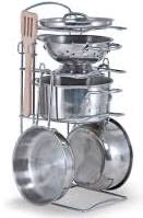 Load image into Gallery viewer, Melissa and Doug  years Let's Play House! Stainless Steel Pots & Pans Play Set